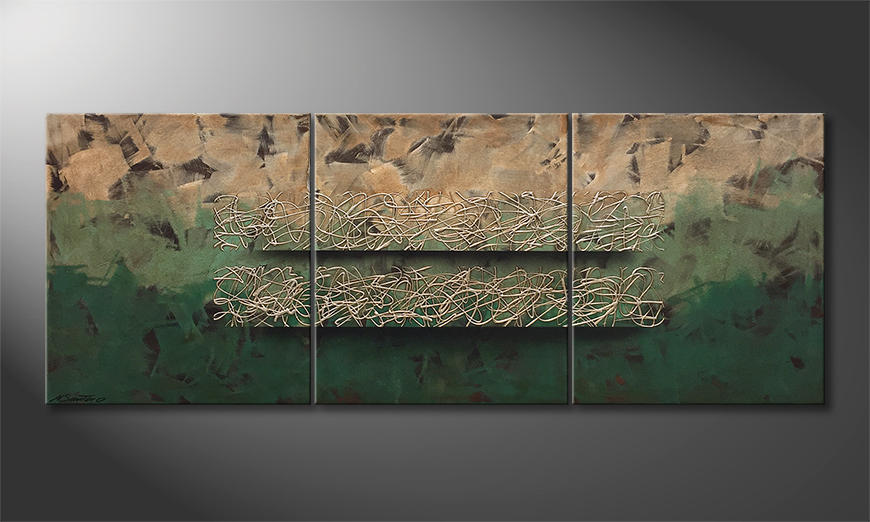 Het canvas Jungle Horizon 180x70x2cm