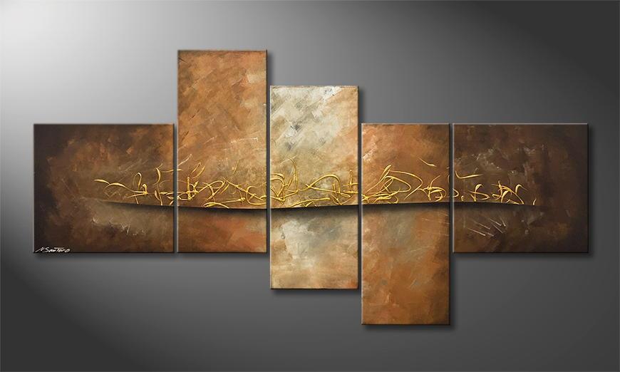 Het canvas Lost Gold 180x95x2cm