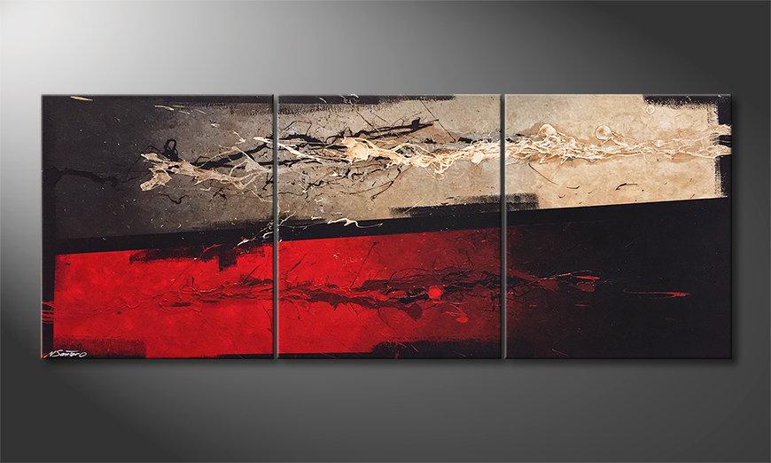 Het canvas Mind Splashes 180x70x2cm