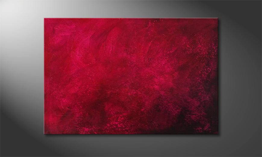 Het canvas Modern Time 120x80x2cm