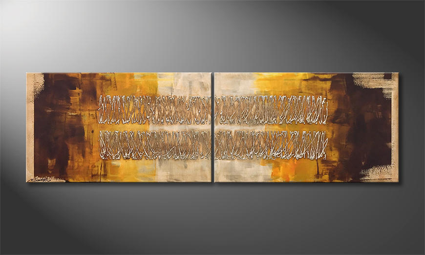 Het canvas Monsum 200x60x2cm