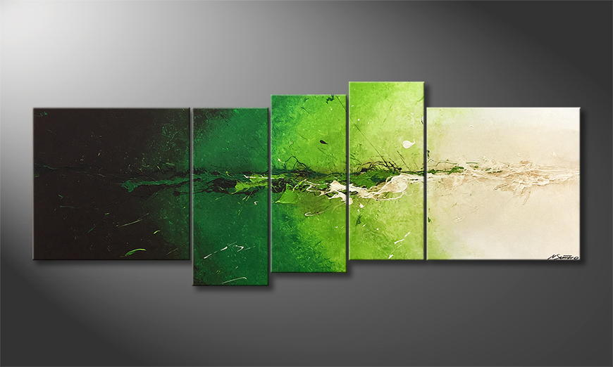 Het canvas Powerful Green 210x80x2cm