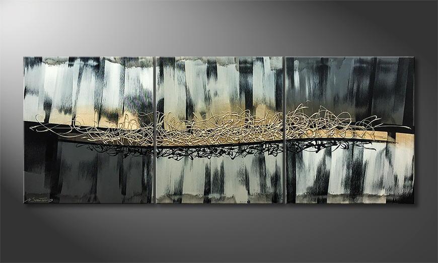Het canvas Silver Shadow 180x70x2cm