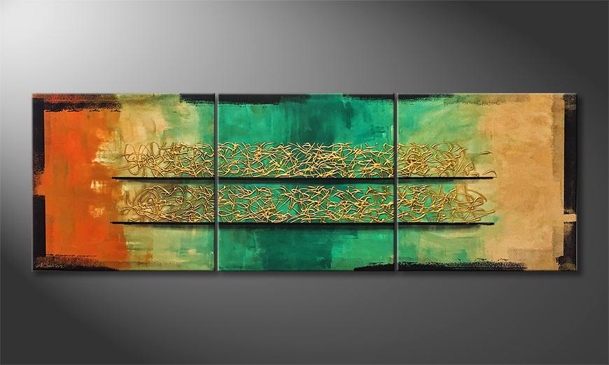 Het canvas Spirit Of Spring 240x80x2cm