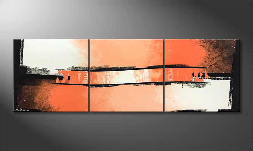 Het canvas The Wave 210x70x2cm