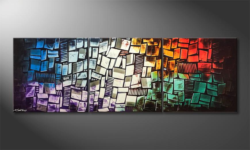 Het canvas United 210x70x2cm