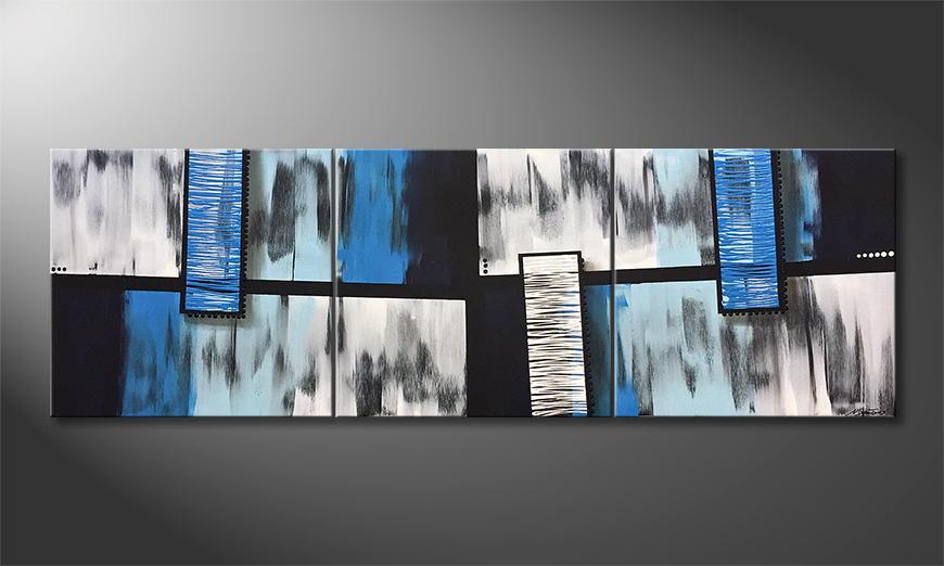 Het canvas Water Fall 210x70x2cm
