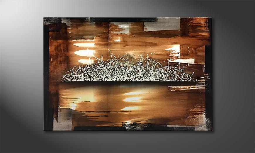 Het exclusieve schilderij Blown By The Wind 120x80x2cm