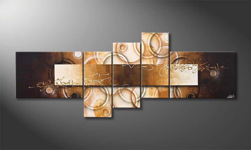 Het exclusieve schilderij Earth Circles 230x90x2cm
