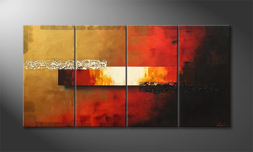 Het exclusieve schilderij Fiery Night 160x80x2cm