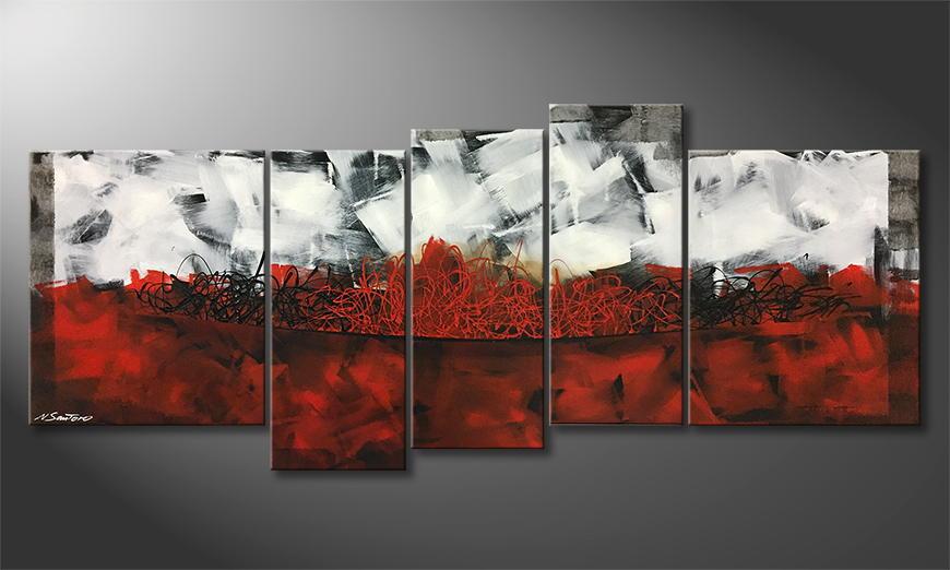 Het exclusieve schilderij Fire Lane 190x80x2cm
