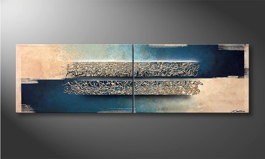 Het exclusieve schilderij Frozen Streams 200x60x2cm