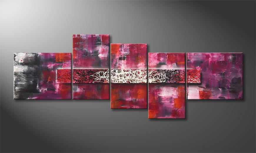 Het exclusieve schilderij Glowing Fog 240x90x2cm