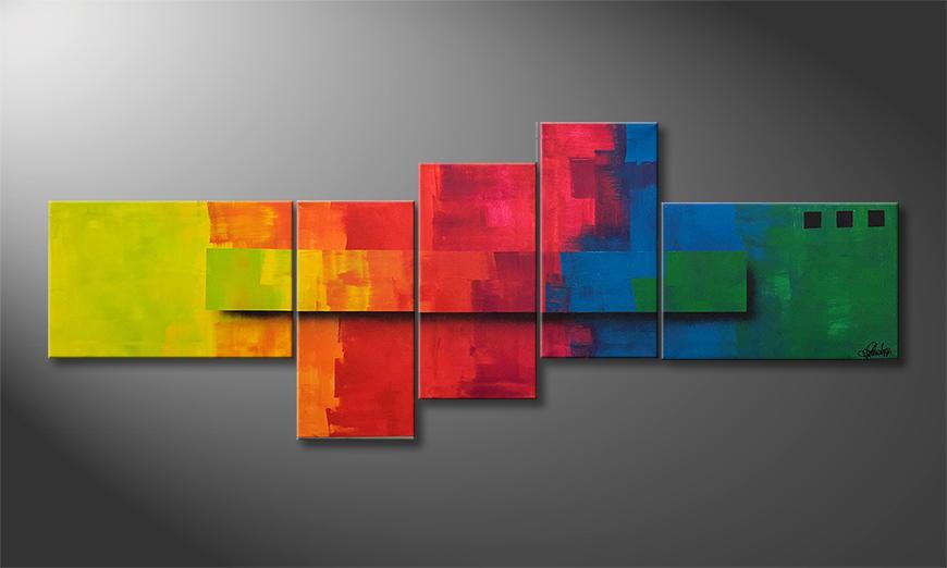 Het exclusieve schilderij Happy Weekend II 210x80x2cm