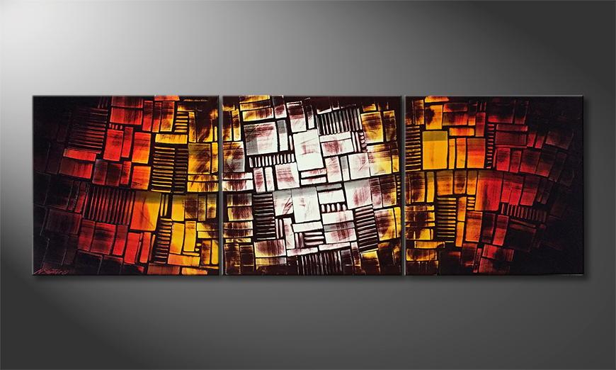 Het exclusieve schilderij Hot City Summer 210x70x2cm