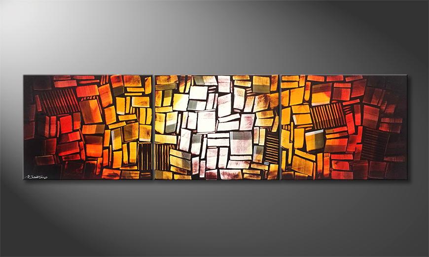 Het exclusieve schilderij Inflamable 210x60x2cm