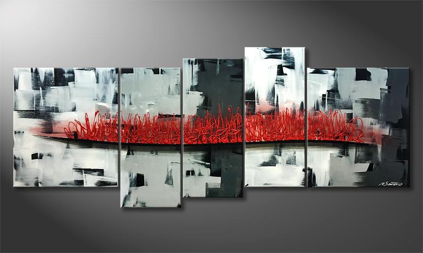 Het exclusieve schilderij Inflammable City 190x80x2cm