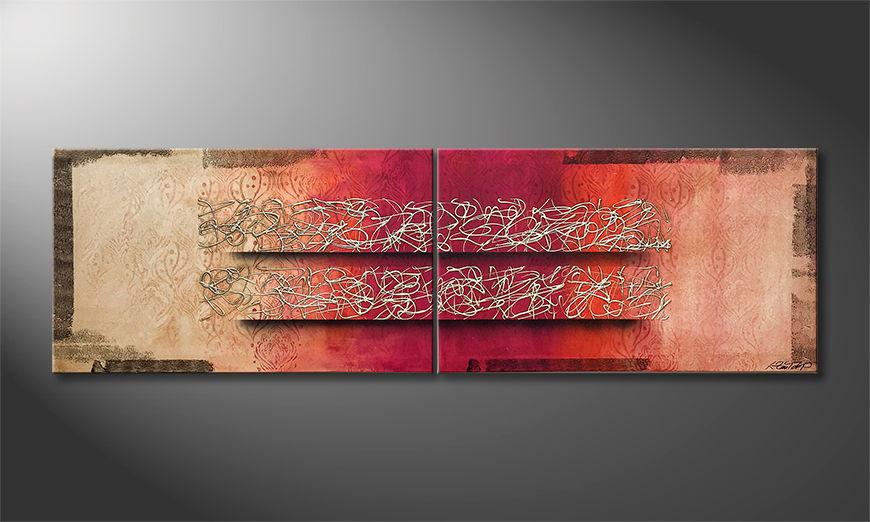 Het exclusieve schilderij Just II Love 200x60x2cm