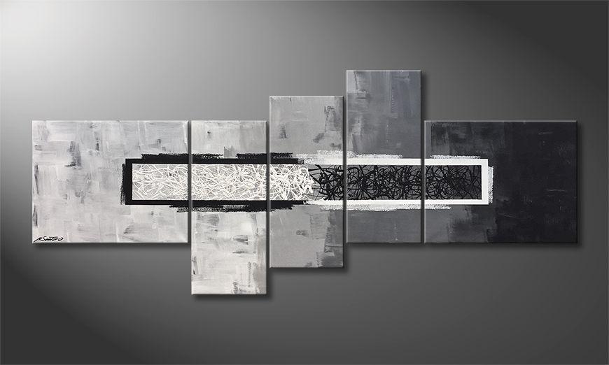 Het exclusieve schilderij Light vs. Shadow 210x90x2cm
