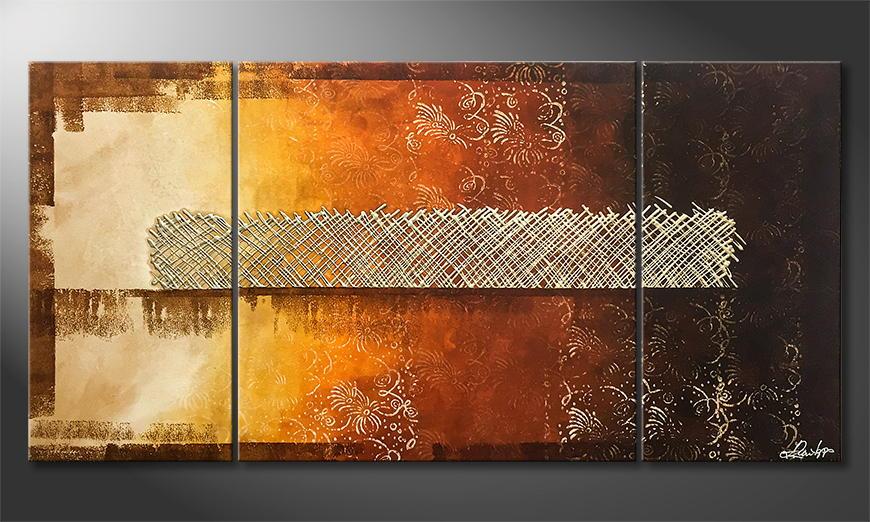 Het exclusieve schilderij Lost Garden 160x80x2cm