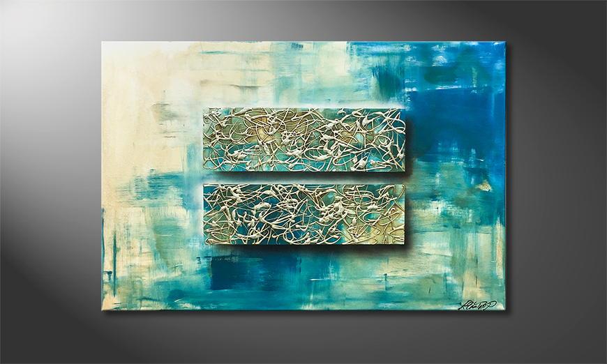 Het exclusieve schilderij Ocean Contrast 120x80x2cm