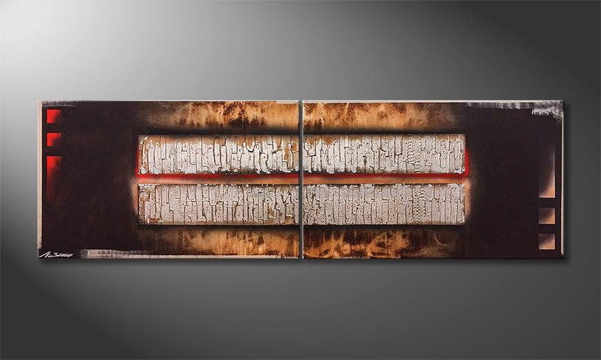 Het exclusieve schilderij Old Bars 200x60x2cm
