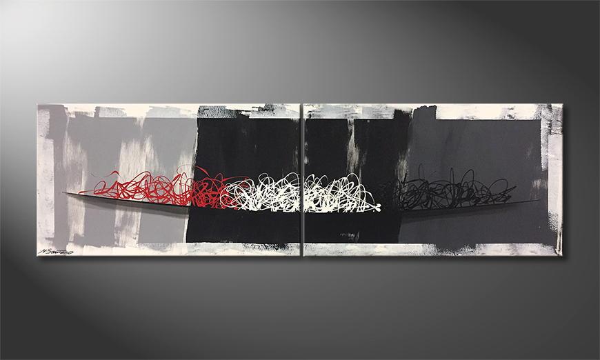 Het exclusieve schilderij Rising Light 200x60x2cm