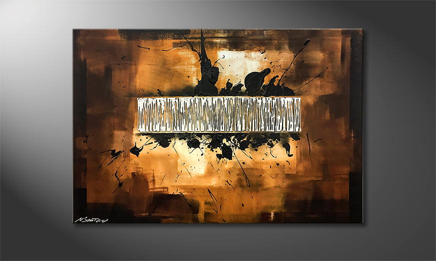 Het exclusieve schilderij Silver Search 120x80x2cm