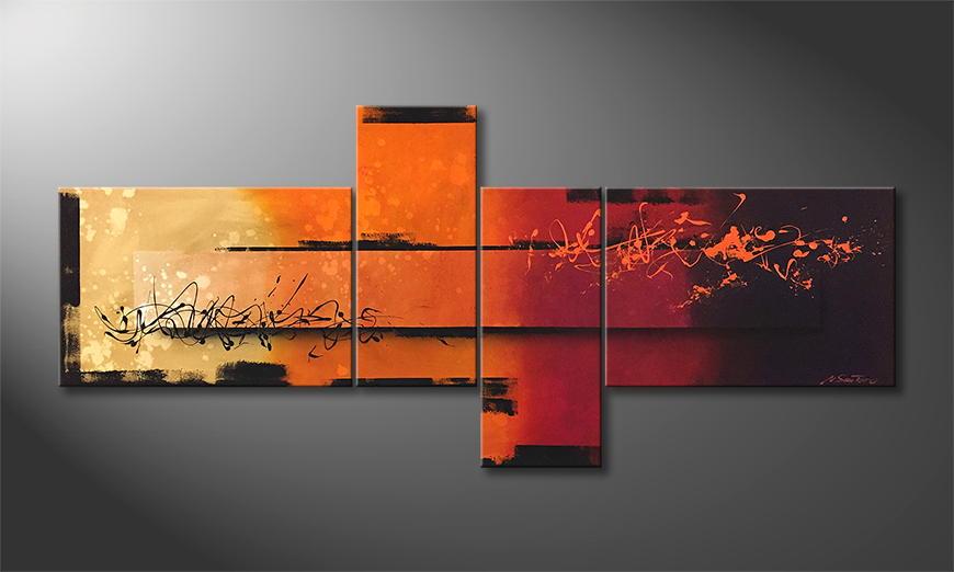 Het exclusieve schilderij Sundown 200x90x2cm