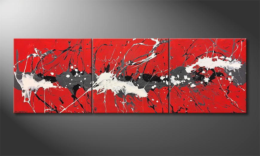 Het exclusieve schilderij Try Of Clearness 210x70x2cm