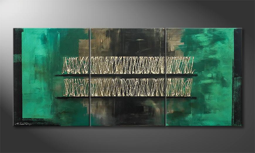 Het exclusieve schilderij Vibrations 180x70x2cm