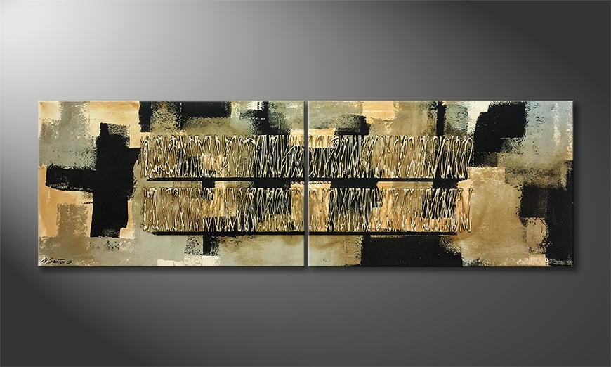 Het exclusieve schilderij Visions 200x60x2cm