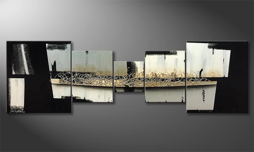 Het exclusieve schilderij Way Of Shadow 230x70x2cm