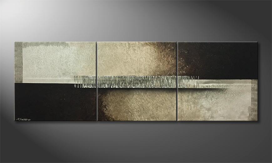 Het exclusieve schilderij Winter Solstice 210x70x2cm