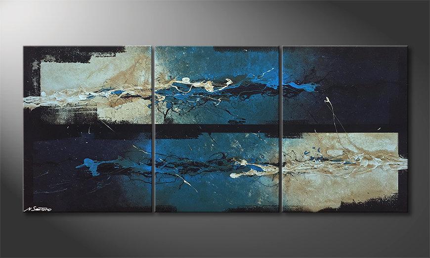 Het moderne beeld Against The Drift 180x80x2cm