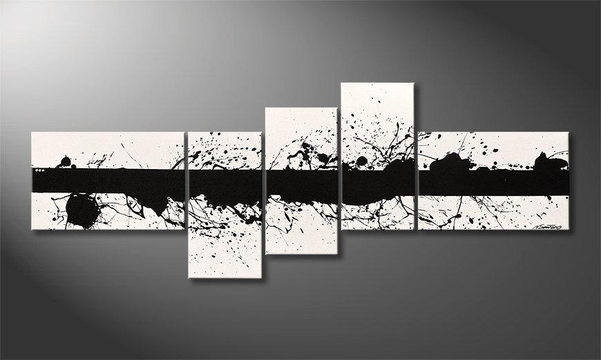 Het moderne beeld Cut White 210x80x2cm