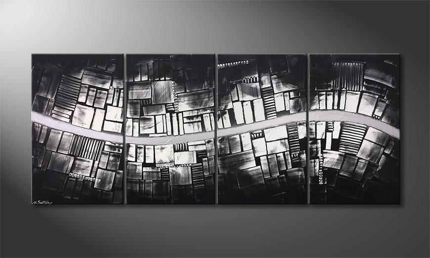 Het moderne beeld Downtown 200x85x2cm