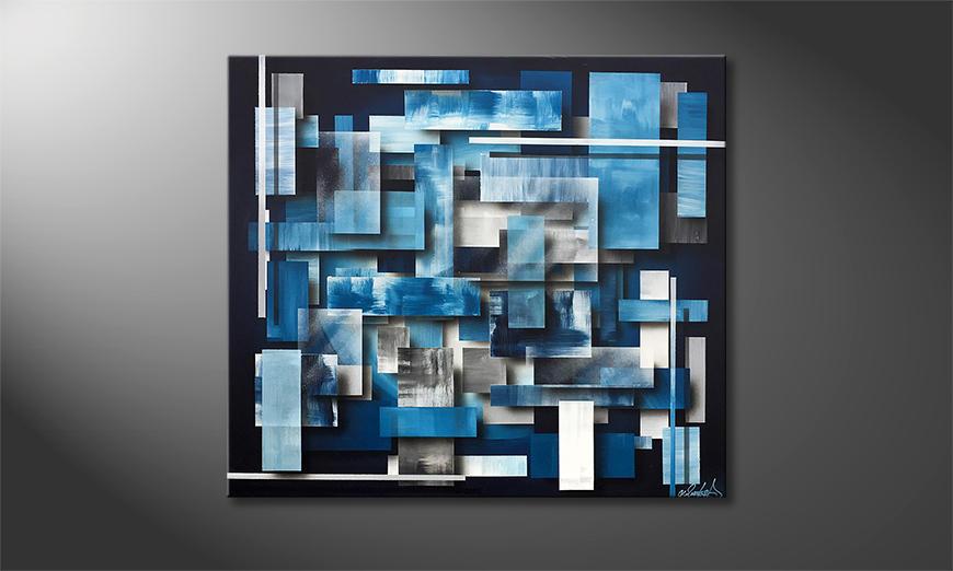 Het moderne beeld Hover Water 90x80x2cm