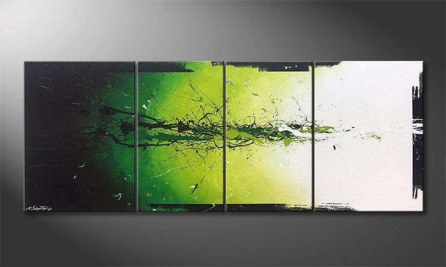 Het moderne beeld Liquid Green 180x70x2cm