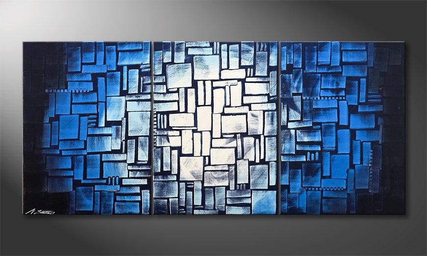 Het moderne beeld Moon Blues 150x70x2cm