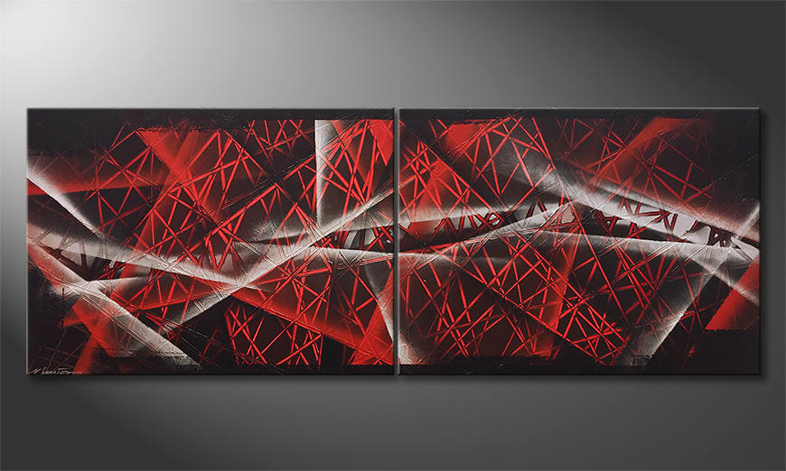 Het moderne beeld Red Night 160x60x2cm