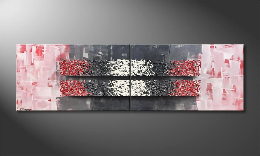 Het moderne beeld Resolution Of Contrast 200x60x2cm