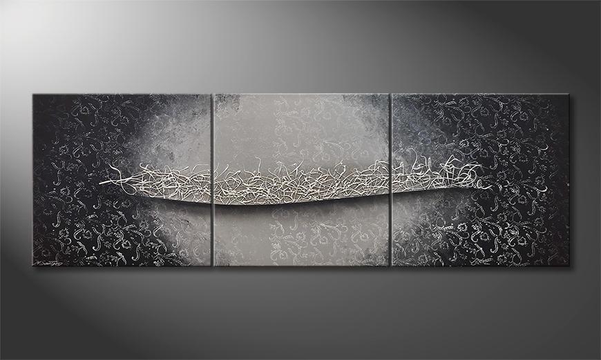 Het moderne beeld Silver Affair 210x70x2cm