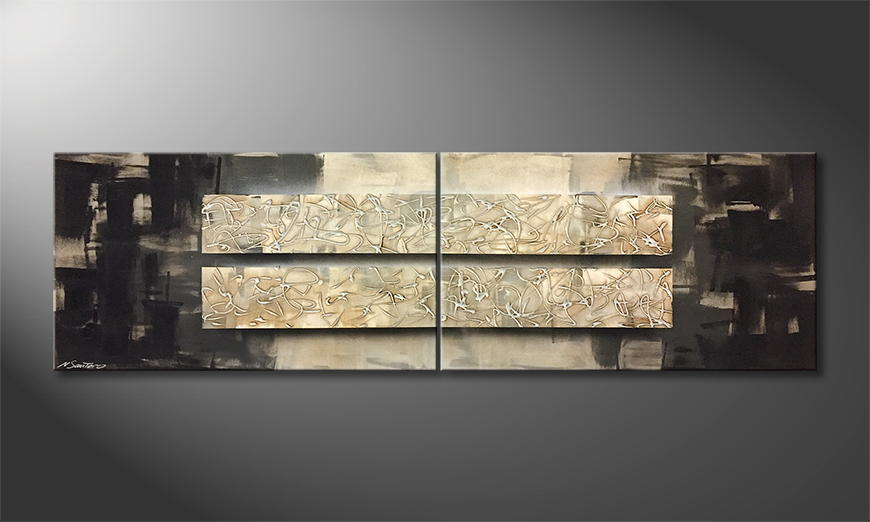 Moderne wall art Abstract Bars 200x60x2cm