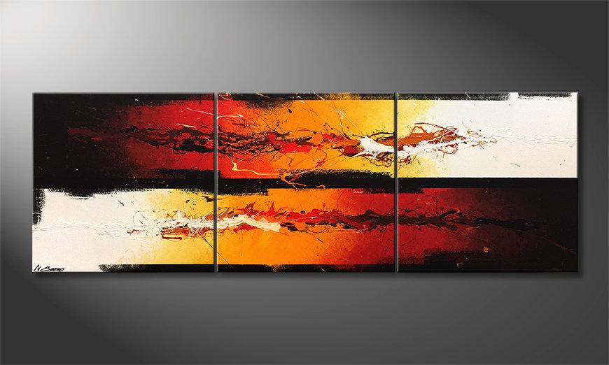 Moderne wall art Battle Of Fire 210x70x2cm