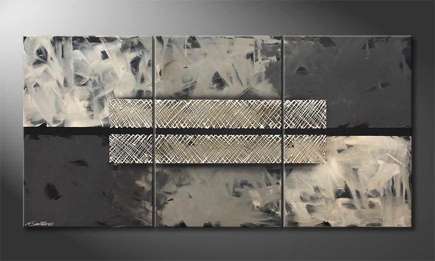 Moderne wall art Black Cut 180x90x2cm