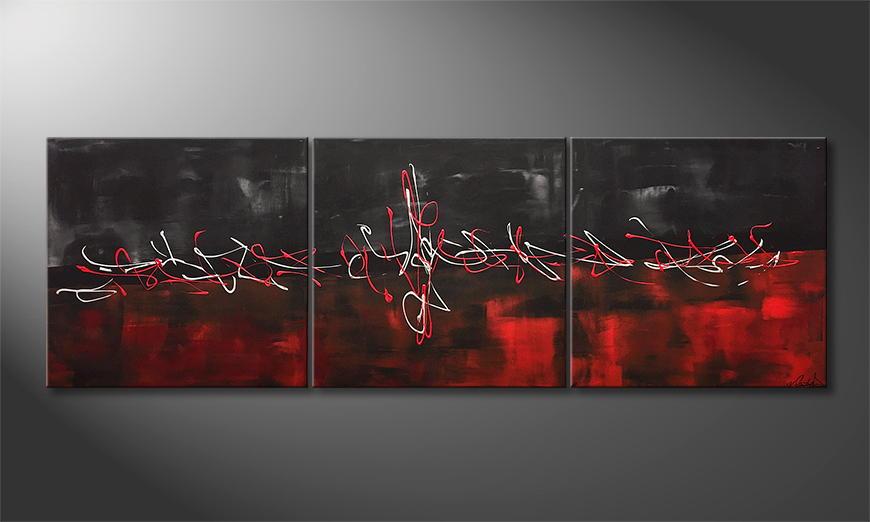 Moderne wall art Blending Emotions 180x60x2cm
