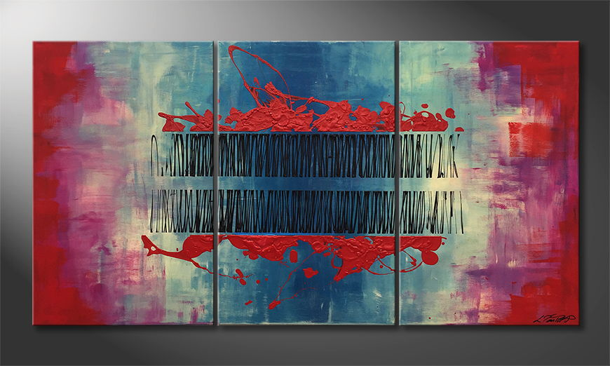 Moderne wall art Blood Lines 150x80x2cm
