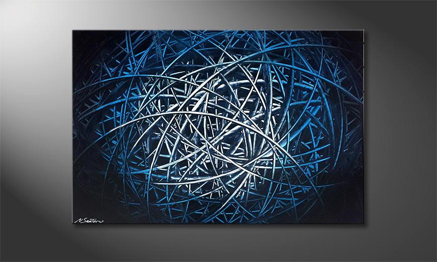Moderne wall art Blue Hope 120x80x2cm