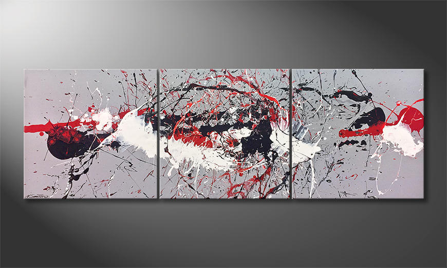 Moderne wall art Clash Light 210x70x2cm